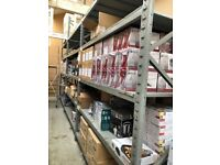 DEXION USED CLEAN ENVIRONMENT RACKING HEAVY DUTY CLEAN WAREHOUSE STORAGE / SHELVING