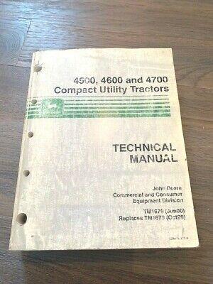 2000 John Deere 450046004700 Compact Utility Tractors Technical Manual Tm1679