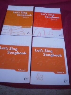 K12 K 12 Lets Sing Songbook Volumes 1 2 3 4