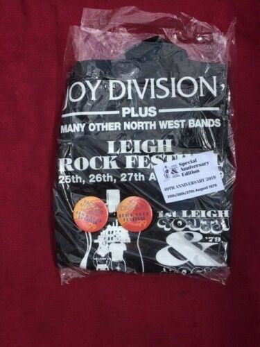 Leigh Rock Festival T Shirt  1979 40th anniv  Joy Division OMD Bunnymen Teardrop