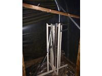 Metal Hanging Basket Stand Holder Display Frame Tree Garden Nursery