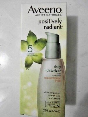Aveeno Active Naturals Positively Radiant Daily Moisturizer SPF 30  -- 2.5