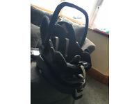 Maxi-Cosi Family fix pebble Car seat (Black Raven) & Maxi-cosi Family fix Base (isofix)