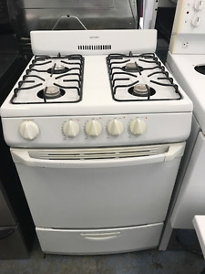 24 inch White Gas Stove Working Great with Guarantee