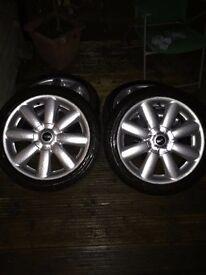 Mini cooper alloy wheels 17inch