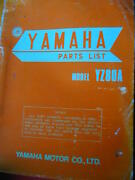 YAMAHA GT50 / GT80  AND YZ 80A MOTORCYCLE PARTS BOOKS c1972 Dianella Stirling Area Preview