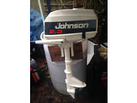 Johnson 2.3hp Outboard Engine, Excellent Condition