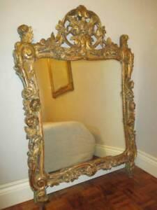 Antique French Rococo Gilt Mirror $1.00