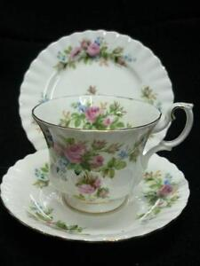 "English, Royal Albert, ""Moss Rose"" cup set Blakeview Playford Area Preview"