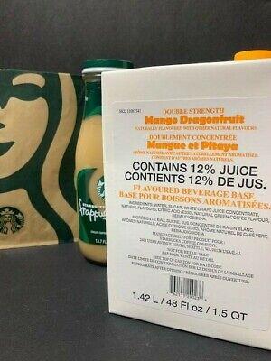 STARBUCKS Double Strength Mango Dragonfruit Juice Base~48 oz~Best By 11/21
