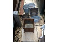 Metal buckets / pots/umbrella stand £5 each