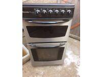 £106.00 Electrolx Zanussi Black/Sls ceramic electric cooker+50cm+3 months warranty for £106.00