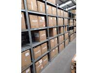 15 bays Galvenised SUPERSHELF industrial shelving 2.3m high ( pallet racking /storage)