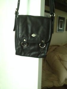 Black Leather Crossbody Cambridge Kitchener Area image 1
