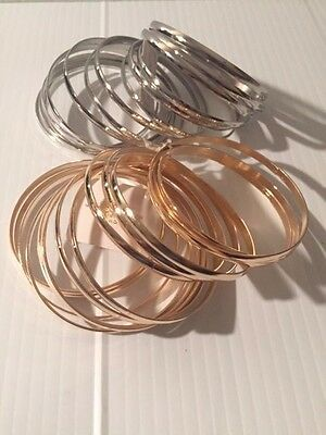 Metal Stack (13 piece thick heavy weight metal bangles bracelet stack cuff)