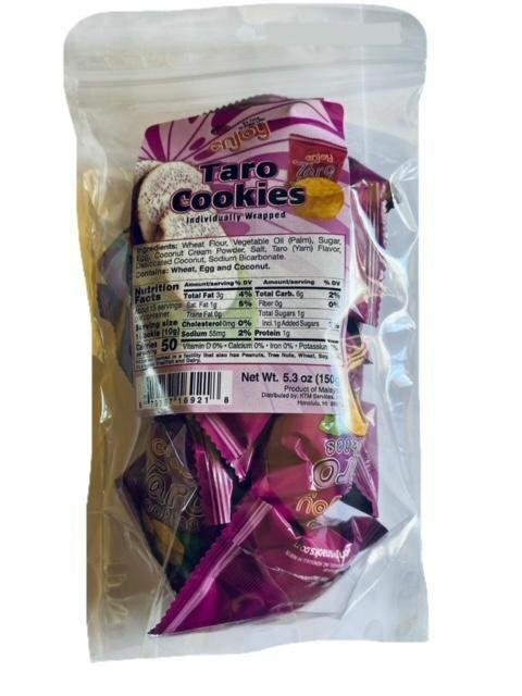 Enjoy Taro Cookies (2 Bags - 5.3 oz each)