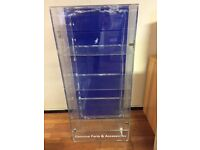 Mobile Phone Accessories 3 Tier Glass Display Unit Cabinet Stand with 2 Locks and Door