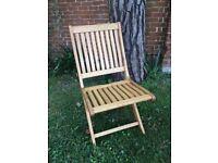 Matt Lacquered European Oak Garden Chairs – 6 Available - £40 each