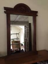 LARGE TIMBER FRAMED MIRROR, BALI STYLE, VGC Greenslopes Brisbane South West Preview