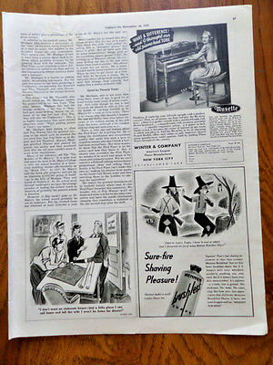 1939 Musette Piano Ad  Winter & Company New York City