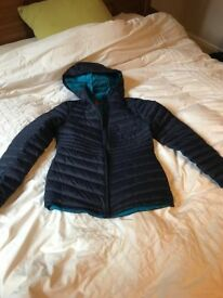 Fitted Padded Navy / Blue Down Jacket