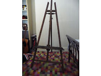 Vintage Artists Easel, Fully adjustable beautifully made, complete with residue of oil paint !