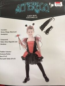 Lady Bug Costume – Size 3T-4T - $10