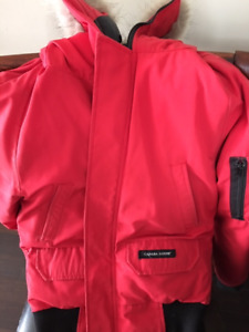 Red Canada Goose Jacket - Youth Large