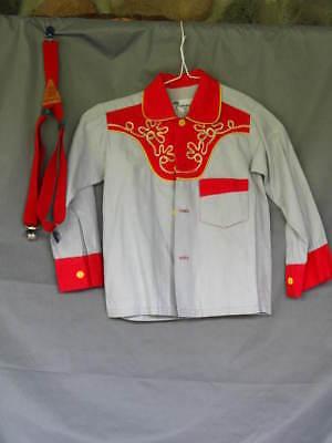 Cowboy Shirt Western Rodeo Sheriff Woody Little Boy's & Suspenders