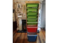 Ikea storage boxes and unit