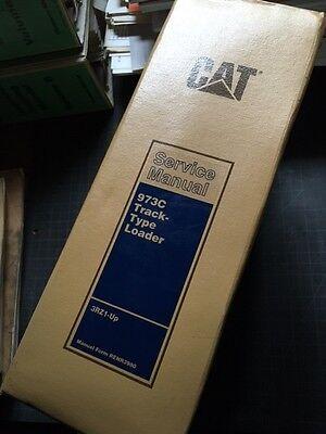 Cat Caterpillar 973c Track Loader Crawler Service Manual Shop Repair Owner Book