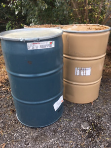55 Gallon Steel drum/ Barrel with Snap Ring Lid - Food Grade