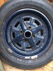 MG Midget Steel Wheels