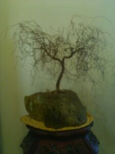 Vintage Copper Brass Willow Tree Sculpture