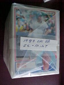 1983 O-Pee-Chee (OPC) BASEBALL (396 card) Complete Set