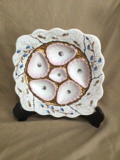 Antique Mark & Gutherz Carlsban Porcelain Oyster Plate
