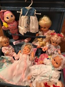 NOËL  Valise et poupées Vintage