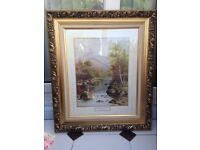 """Framed print of """"On the River"""" by W H Mander"""