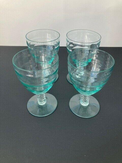 Heisey Stanhope Zircon Water Goblets (4)
