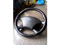 FORD FOCUS ST 170 ( 1998 / 2005) STEERING WHEEL WITH AIR BAG