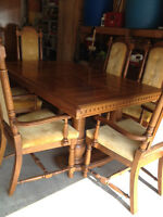 Beautiful wood dining set and china cabinet for sale