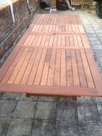 Massive Garden Table - New - immaculate - Seats 12 - Large Teak - nearly 3m