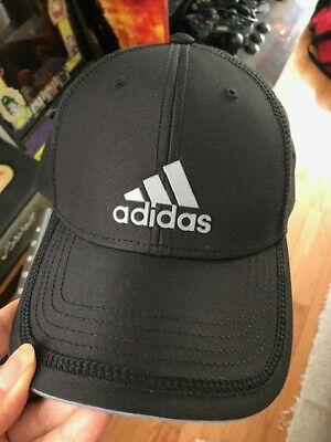 ADIDAS Men's Decision Contract Cap, Climalite Adjustable Fit Hat, Black Grey