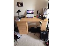 3 Drawer desk with shelves from Argos