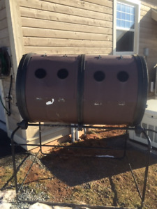 large rotating composter