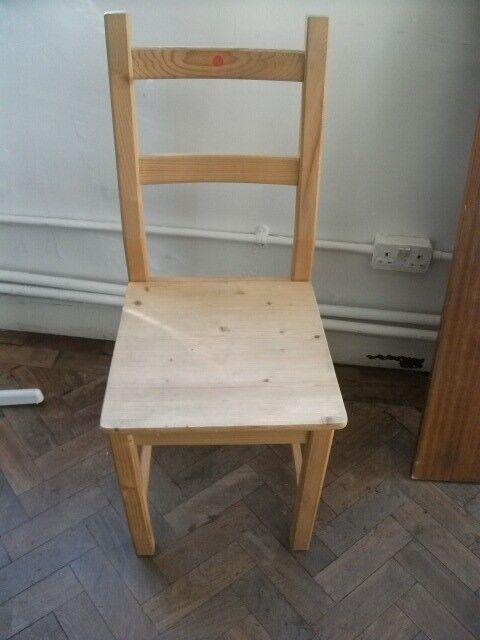 Chair . Made of wood .