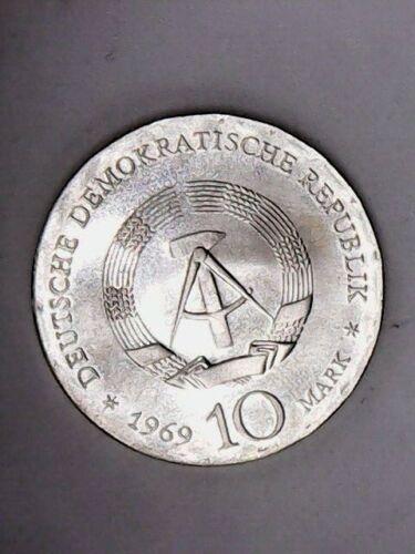 1969 East Germany Silver 10 Mark - BU