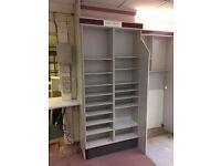 Drawers and shelving from pharmacy. Metal. Good condition. Buyer dismantles and collects.