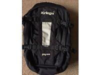 Kriega R25 Rucksack, For wearing on a motorbike.