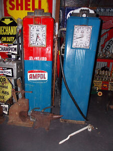 Petrol pumps bowsers Wanted enamel signs Canberra City North Canberra Preview